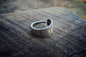 1892 Owl Sterling Spoon Ring