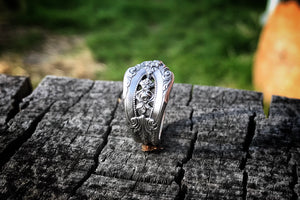 1934 Demitasse Rose Point Sterling Spoon Ring