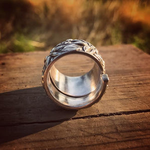 1933 Southern Statement Rose Sterling Spoon Ring
