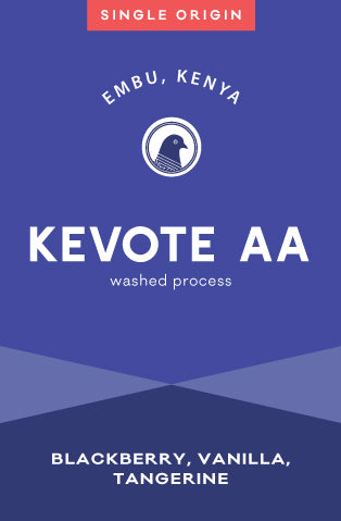 Kevote AA light roast coffee from Embu Kenya