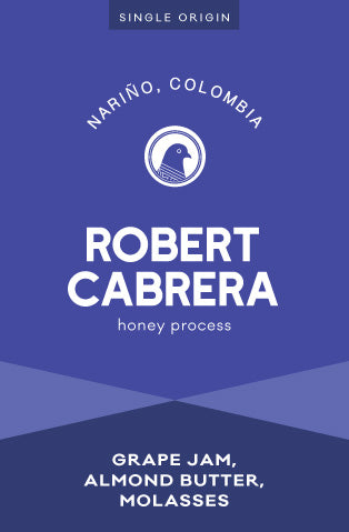 Robert Cabrera Honey Process Coffee from the Nariño region of Colombia