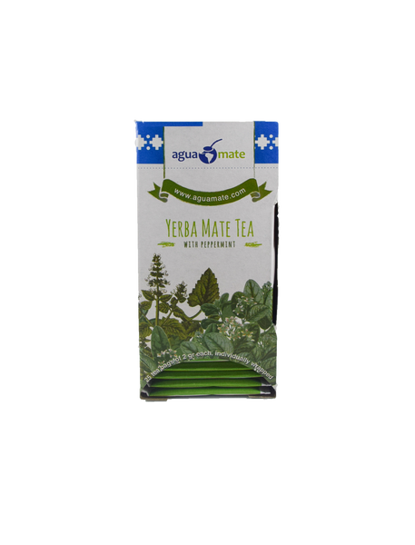 AGUAMATE - Yerba Mate & Peppermint Tea Bags