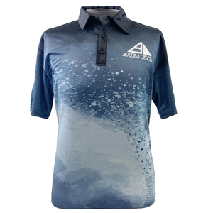 Axiom Discs Grit Sublimated Short Sleeve Performance Disc Golf Polo Shirt
