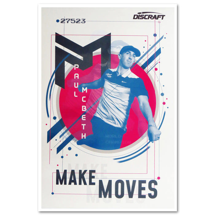 Discraft Paul McBeth - Make Moves Poster