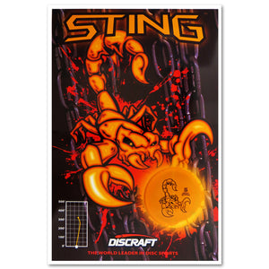 Discraft Sting Poster