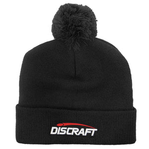Discraft Logo Knit Cuffed Pom Beanie Winter Disc Golf Hat
