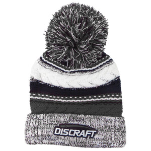 Discraft Embroidered Logo Knit Pom Beanie Winter Disc Golf Hat