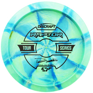 Discraft Limited Edition 2019 Tour Series Paul Ulibarri Understamp Swirl ESP Raptor Distance Driver Golf Disc