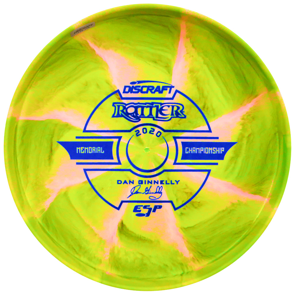 Discraft Limited Edition 2020 Tour Series Dan Ginnelly Memorial Championship Understamp Swirl ESP Rattler Putter Golf Disc