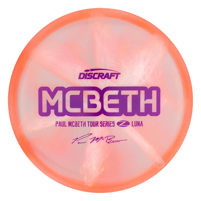 Discraft Limited Edition 2020 Tour Series Paul McBeth Swirl Elite Z Luna Putter Golf Disc