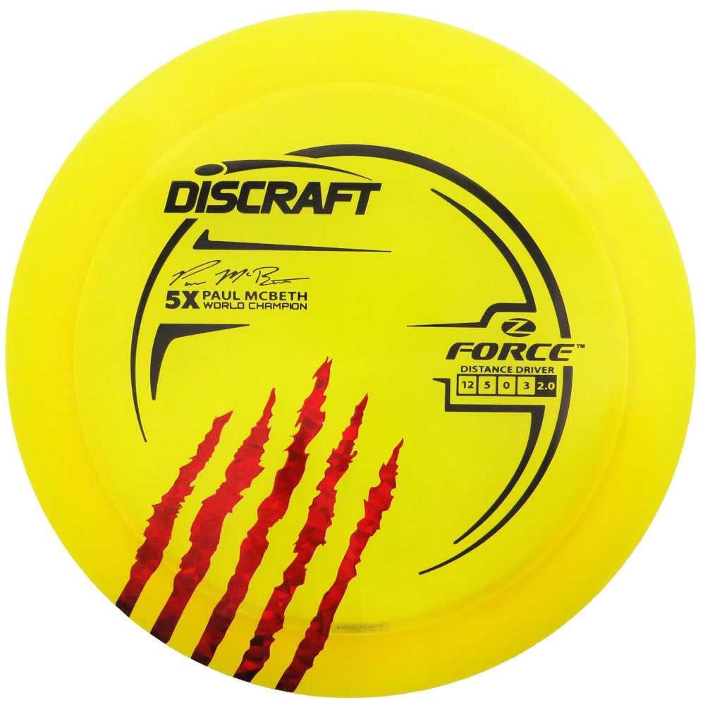 Discraft Limited Edition Paul McBeth 5X Signature Elite Z Force Distance Driver Golf Disc