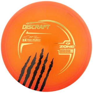 Discraft Limited Edition Paul McBeth 5X Signature Elite Z Zone Putter Golf Disc