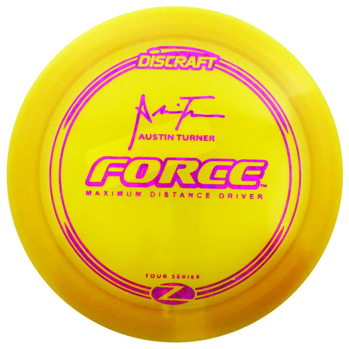 Discraft Limited Edition Tour Series Signature Austin Turner Elite Z Force Distance Driver Golf Disc