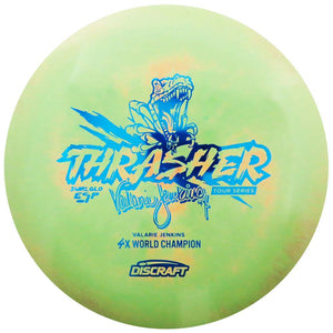 Discraft Limited Edition 2018 Tour Series Signature Valarie Jenkins Swirl Glo ESP Thrasher Distance Driver Golf Disc