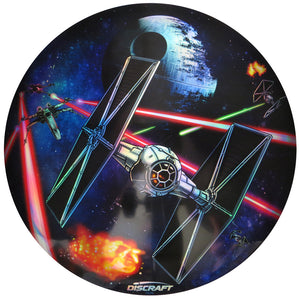 Discraft Star Wars Death Star Scene Full Foil SuperColor ESP Buzzz Midrange Golf Disc
