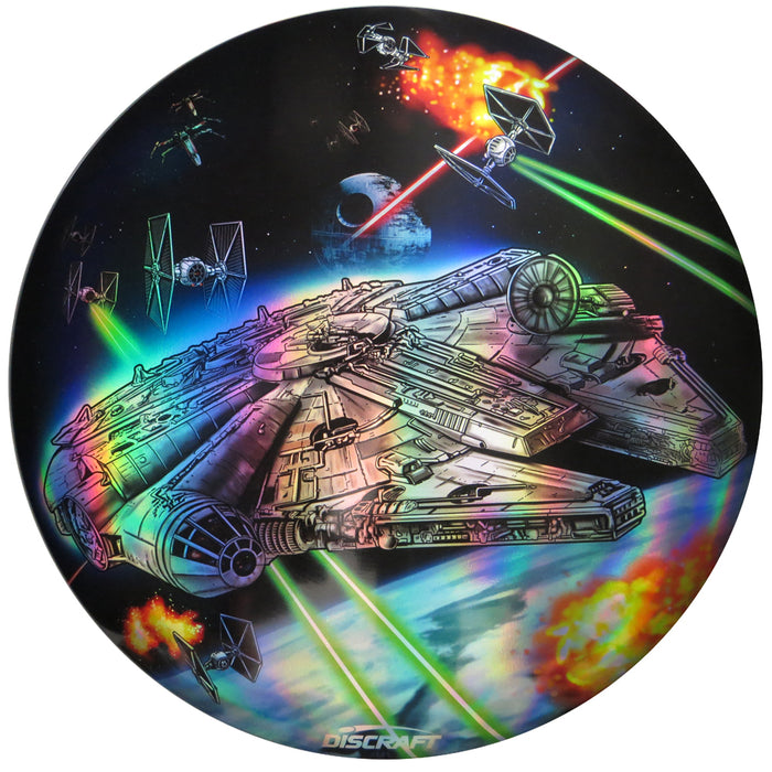 Discraft Star Wars Millennium Falcon Scene Full Foil SuperColor ESP Buzzz Midrange Golf Disc