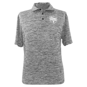 Discmania Shield Logo Short Sleeve Performance Disc Golf Polo Shirt