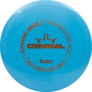 Dynamic Discs BioFuzion Criminal Distance Driver Golf Disc