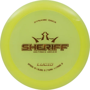 Dynamic Discs Lucid Sheriff Distance Driver Golf Disc
