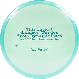 Dynamic Discs Limited Edition 2020 Team Series A.J. Risley Glimmer Lucid-X Warden Putter Golf Disc