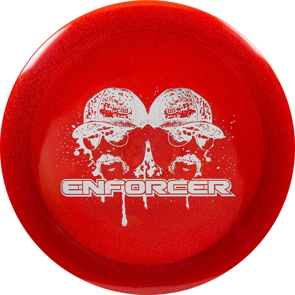 Dynamic Discs Limited Edition Mustache Metallic Lucid Enforcer Distance Driver Golf Disc