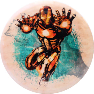 Dynamic Discs Marvel Iron Man DyeMax Splatter Series Fuzion Truth Midrange Golf Disc
