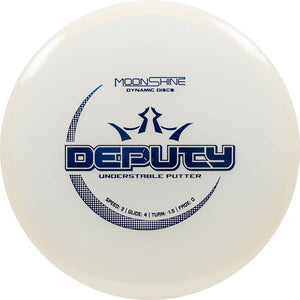 Dynamic Discs Moonshine Glow Lucid Deputy Putter Golf Disc