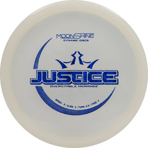 Dynamic Discs Moonshine Glow Lucid Justice Midrange Golf Disc