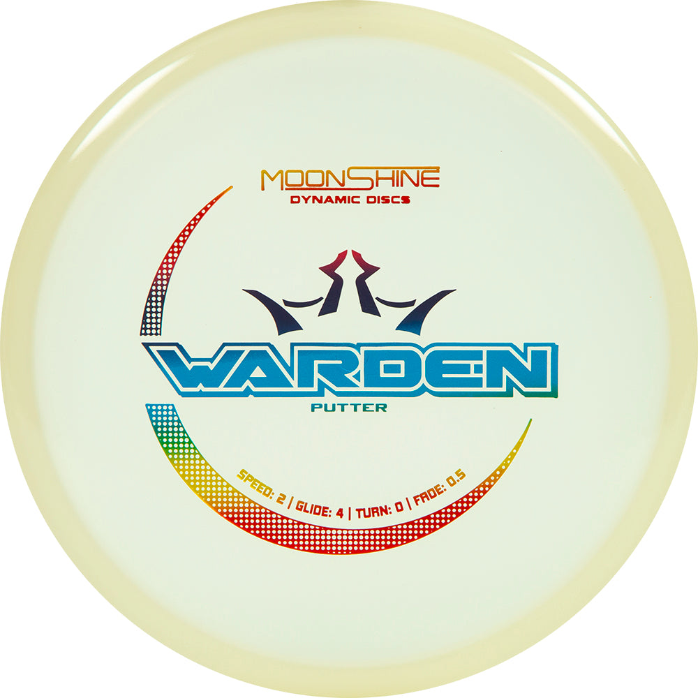 Dynamic Discs Moonshine Glow Lucid Warden Putter Golf Disc