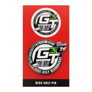 Disc Golf Pins Gotta Go Gotta Throw G3T Logo Enamel Disc Golf Pin