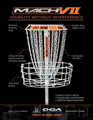 DGA Mach VII 28-Chain Disc Golf Basket