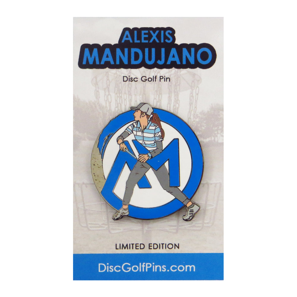 Disc Golf Pins Alexis Mandujano Series 1 Enamel Disc Golf Pin