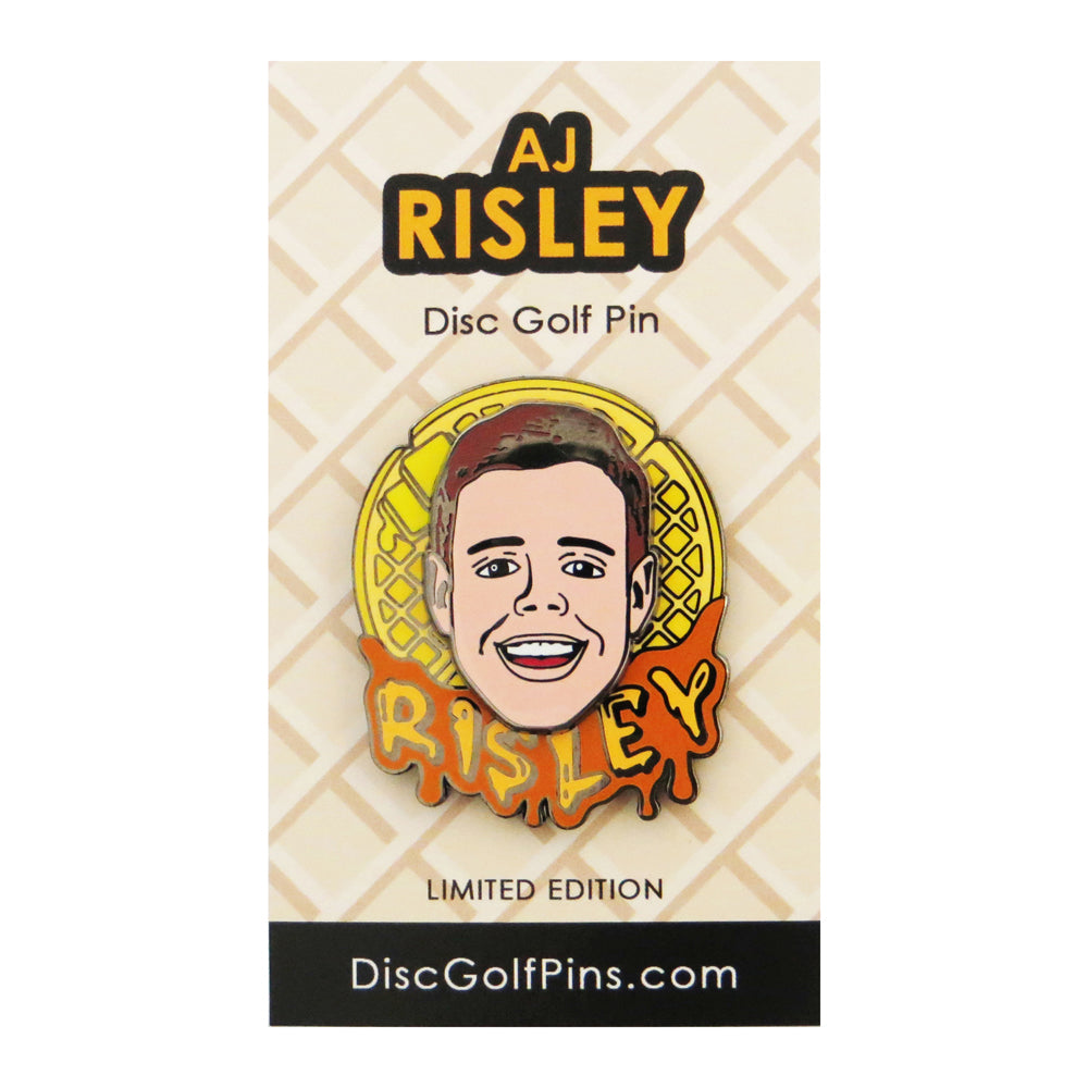 Disc Golf Pins AJ Risley Series 1 Enamel Disc Golf Pin