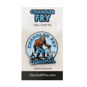 Disc Golf Pins Chandler Fry Series 1 Enamel Disc Golf Pin