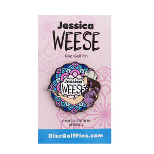 Disc Golf Pins Jessica Weese Series 2 Enamel Disc Golf Pin