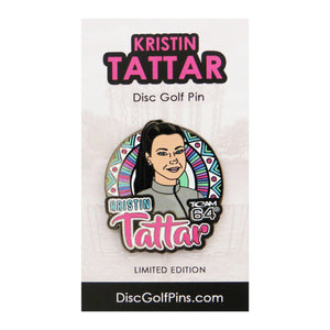 Disc Golf Pins Kristin Tattar Series 1 Enamel Disc Golf Pin
