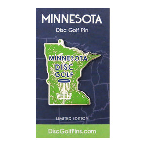 Disc Golf Pins Minnesota State Enamel Disc Golf Pin