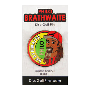 Disc Golf Pins Philo Brathwaite Series 1 Enamel Disc Golf Pin