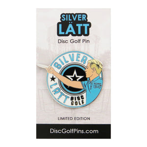 Disc Golf Pins Silver Latt Series 1 Enamel Disc Golf Pin