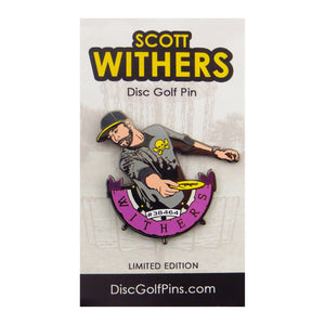 Disc Golf Pins Scott Withers Series 1 Enamel Disc Golf Pin