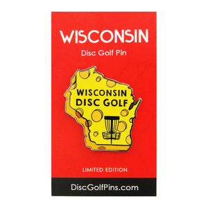 Disc Golf Pins Wisconsin State Enamel Disc Golf Pin