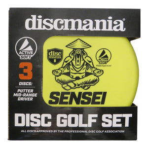 Discmania Active Line Soft 3-Disc Beginner Disc Golf Set