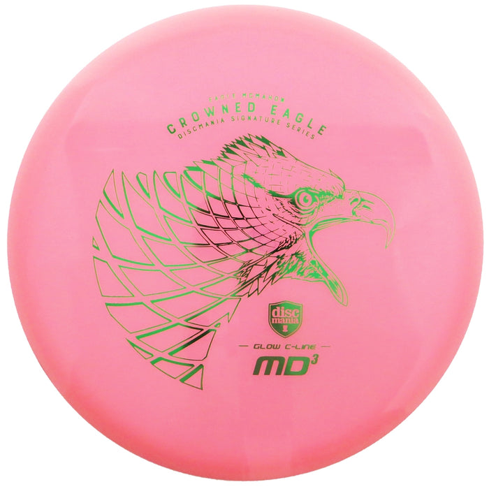 Discmania Limited Edition Signature Eagle McMahon Crowned Eagle Color Glow C-Line MD3 Midrange Golf Disc