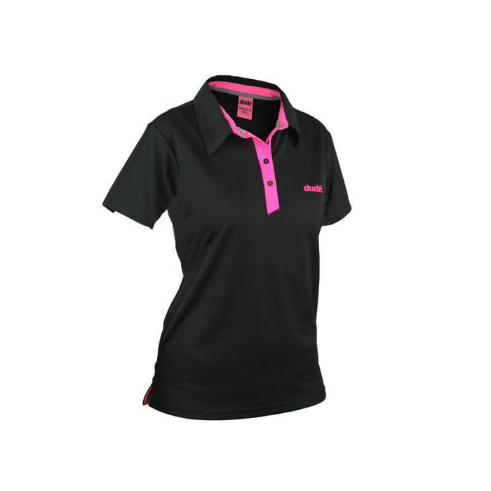 DUDE Ladies Pro Short Sleeve Performance Disc Golf Polo Shirt