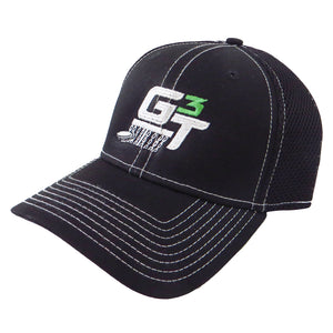 Gotta Go Gotta Throw Contrast Stitch G3T Logo Stretch Mesh Performance Disc Golf Hat
