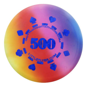 Gotta Go Gotta Throw Poker Chip 500 Tie-Dye Inter-Locking Mini Marker Disc