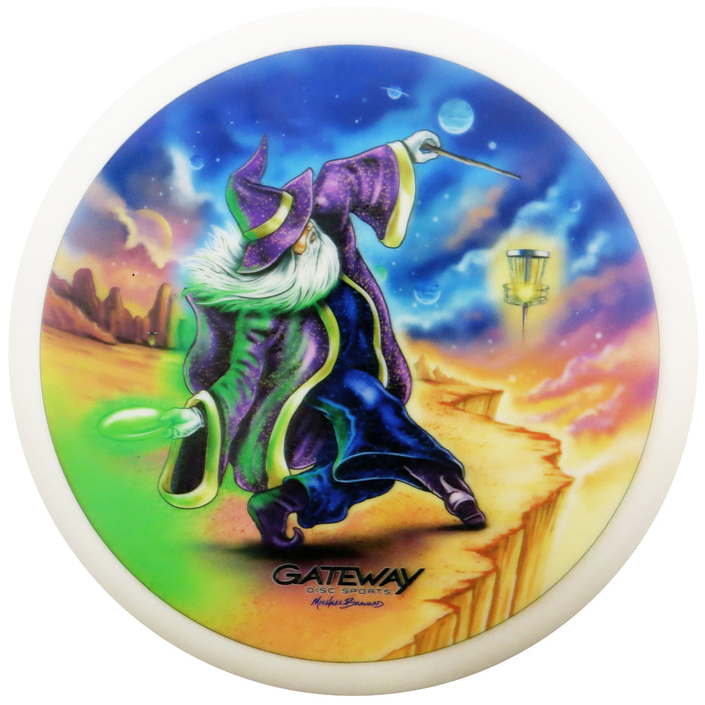 Gateway Limited Edition Artist Series V1 Full Color Diamond Wizard Putter Golf Disc