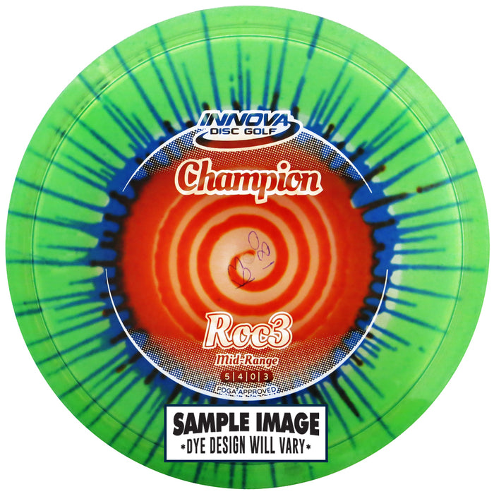 Innova I-Dye Champion Roc3 Midrange Golf Disc