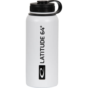 Latitude 64 Logo 32 oz. Stainless Steel Insulated Water Bottle