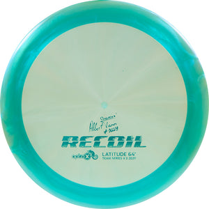 Latitude 64 Limited Edition 2020 Team Series Albert Tamm Chameleon Opto-X Recoil Distance Driver Golf Disc
